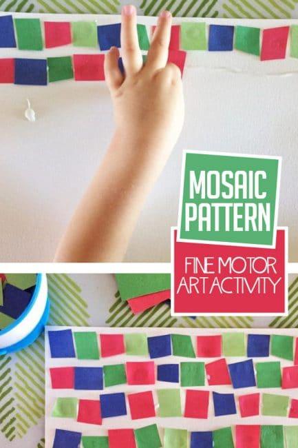 Super Simple Fine Motor Mosaic Pattern Art Activity For Kids Hoawg