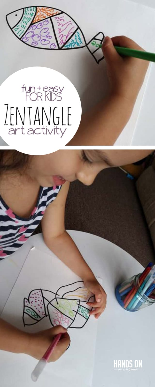 Totally Zen out with Zentangle drawing! This creative and relaxing activity is a perfect way to bond with your kids.