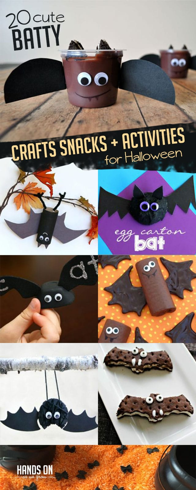 Get in the Halloween spirit with 20 cute batty crafts, snacks, and activities perfect for kids to make and do!