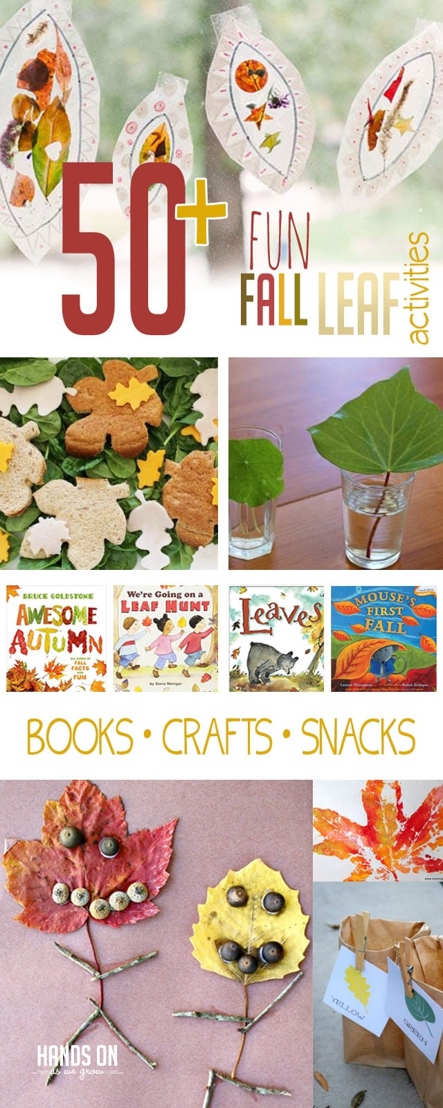 Discover more than 50 fall leaf activities to do, make, read, and eat that are perfect for kids!