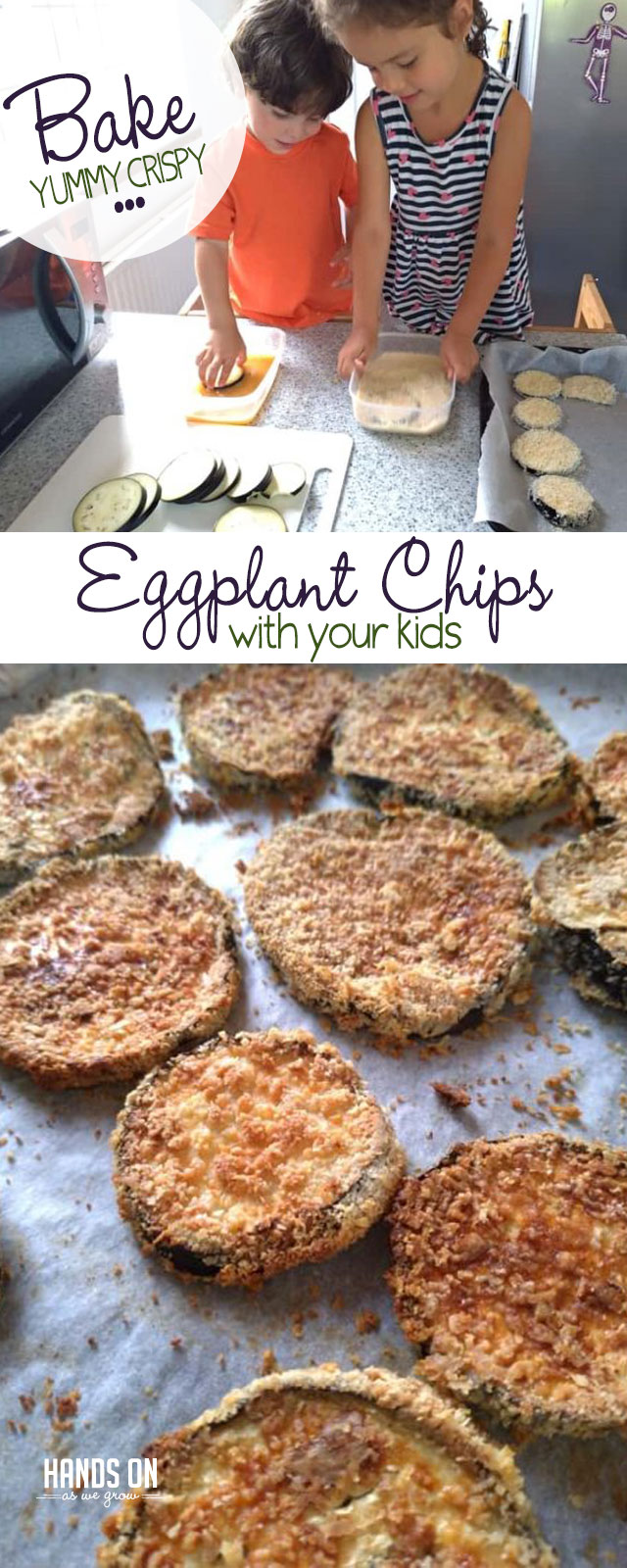 You'll love yummy eggplant chips with a simple recipe that are a snap to make with your kids!