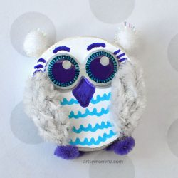 Bottle Cap Snowy Owl- Artsy Momma