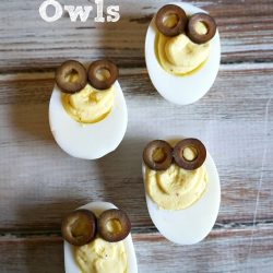 Deviled Egg Owls- The Rebel Chick