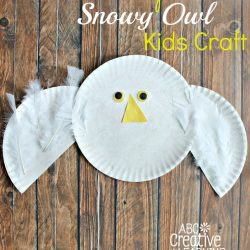 Flying Paper Plate Snowy Owl- Simply Today Life