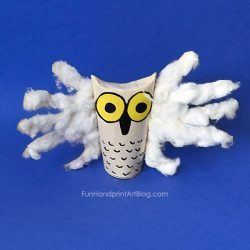 Handprint Owl- Fun Hand Print Art