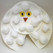 Paper Plate Snowy Owl- Free Preschool Crafts