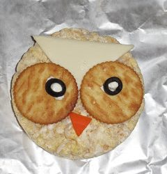 Rice Cake Owl- Primary Learning Logs