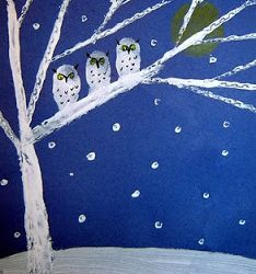 Snowy Owl Family- Kids Artists