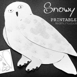 Snowy Owl Printable- Learn Create Love