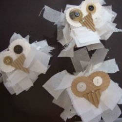 Tissue Paper Snowy Owl- Small Hands Big Art