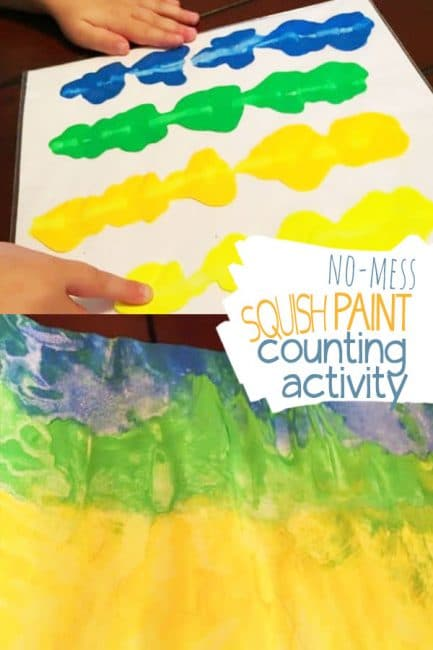 Creative Paint Squish Skip Counting Activity to Teach Math