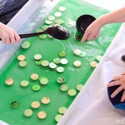Green Soup Sensory Bin- And Next Comes L