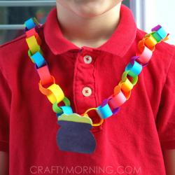 Rainbow Chain Necklace- Crafty Morning