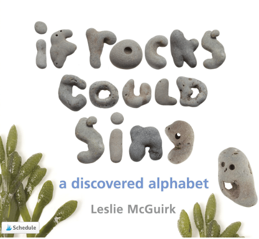 This alphabet book uses rocks found near the author's home.
