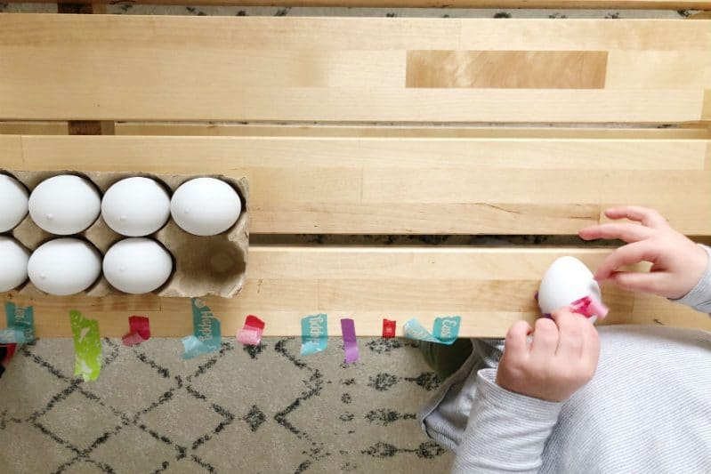 Make no dye Easter Eggs with washi tape!