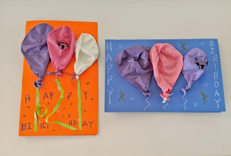 Simple DIY 3D Balloon Birthday Card Craft For Kids