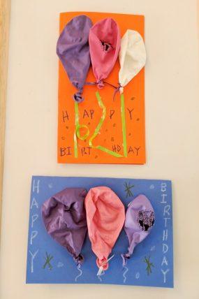 3D Balloon Birthday Card Craft