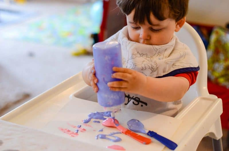This toddler-tested paint recipe can be adapted for little hands with a few simple tweaks!