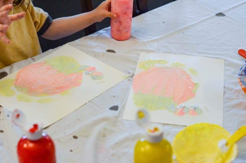 Paint is so much messy fun for toddlers and preschoolers!