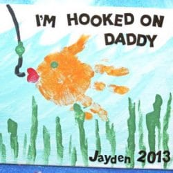 Handprint Fish Card- Glued to My Crafts