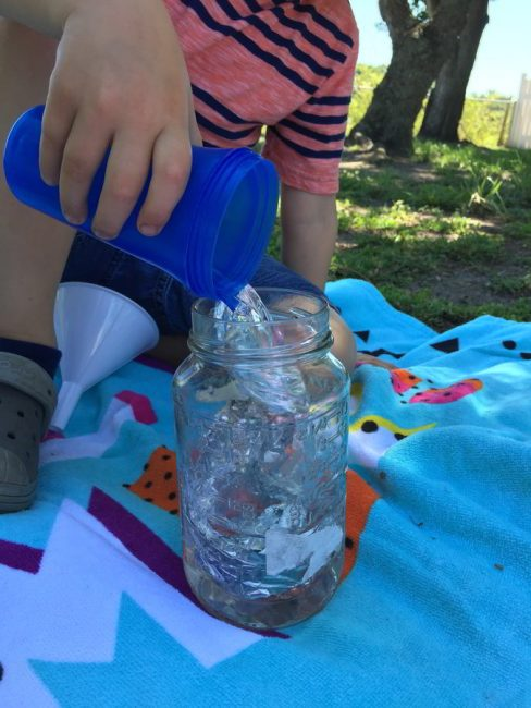 Try a cool engineering experiment for fun outside summer learning!