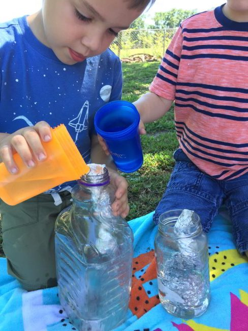 Pour water down ramps and slides in this fun water experiments!
