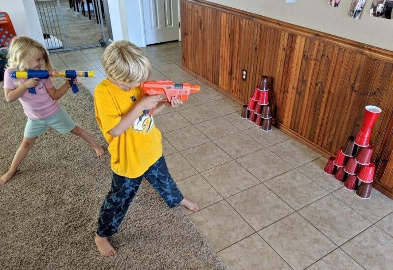 Kids will love this fun Nerf gun target practice game!