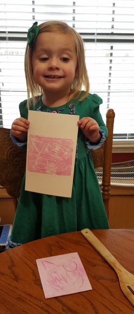 Make your own fine art linocuts with your kids! This simple DIY is so easy and fun!