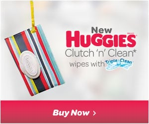 Huggies Clutch 'n' Clean* wipes
