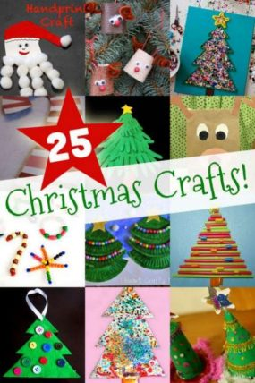 25 easy christmas crafts for kids to make hands on as we grow - Christmas Decoration Ideas For Kids
