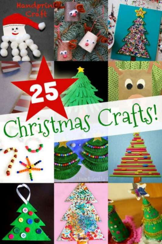 25 easy christmas crafts for kids to make hands on as we grow. Black Bedroom Furniture Sets. Home Design Ideas