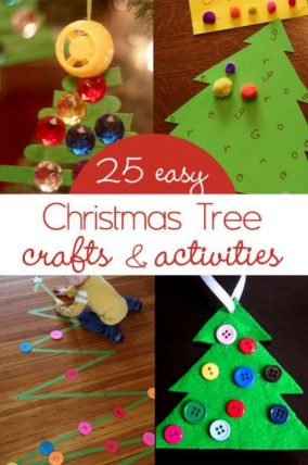 25 easy and cute Christmas tree crafts for kids