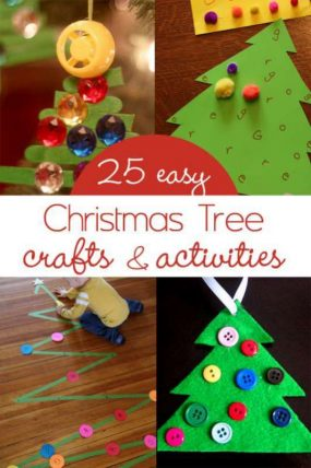 25 easy and cute christmas tree crafts for kids - Pictures Of Crafts For Kids