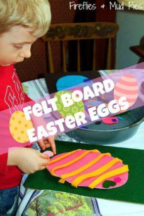 Felt Board Easter Eggs