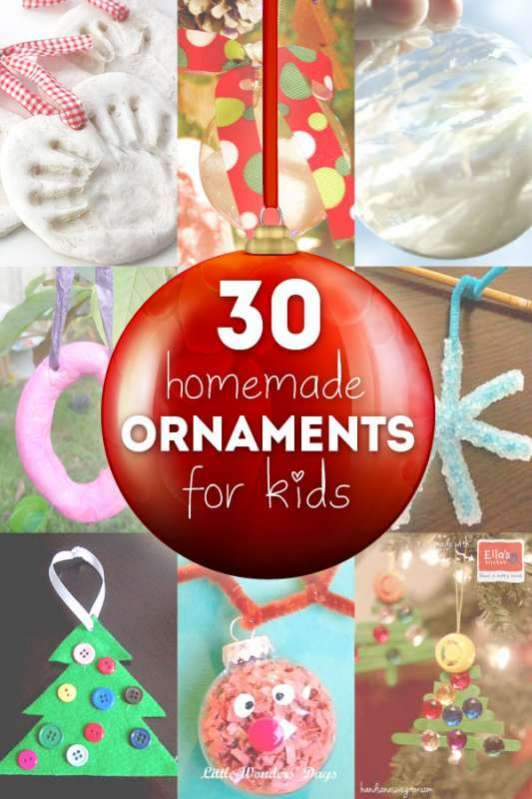 Homemade Christmas Ornaments Toddlers : Homemade ornaments for the kids hands on as we grow