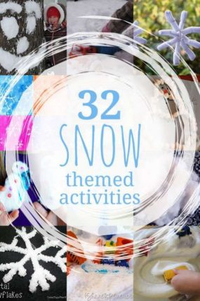 32 snow theme activities for kids to do in the winter
