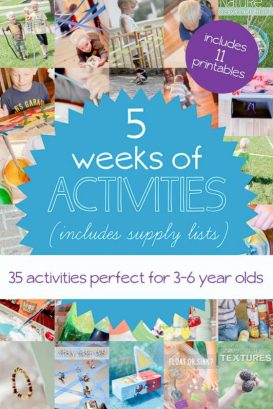35 activities for 3-6 year olds