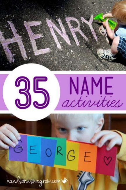 35 Name Activities For Preschooler To Have Fun Learning Their