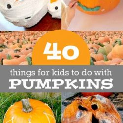 40 pumpkin activities - no-carve pumpkin decorating, learn with pumpkins, lots of pumpkin fun for kids!
