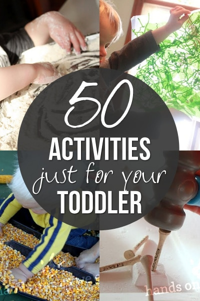Activities for toddlers one of the hardest things to come up with. These are 50 activities that toddlers will love exploring, creating and having fun with!