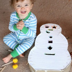Snowman Drop Box - 1 of 40 winter activities for toddlers