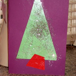 Homemade Christmas Tree Cards, 1 of the 25 easy Christmas crafts for kids