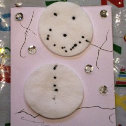 Snowmen homemade cards