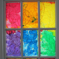 Rainbow Colored Stained Glass