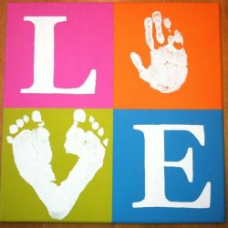 Hand & Footprint LOVE Canvas from The Chop Haus