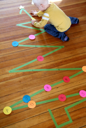 Decorate the Christmas Tree Activity with ABCs