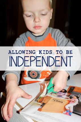 Allowing Kids to be Independent