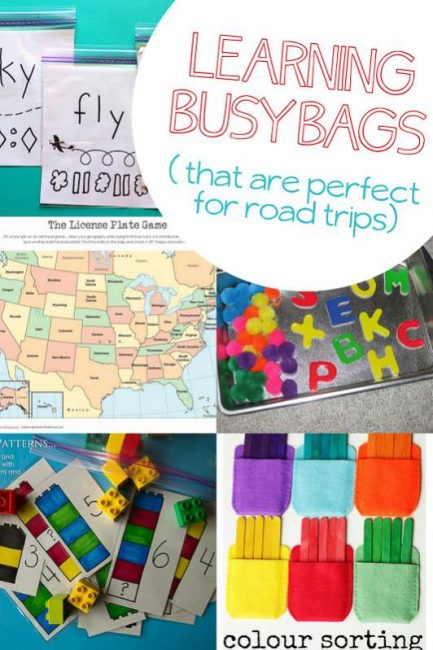 Learning busy bags that are great for on the road -- add these to our busy bag ideas!