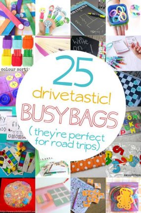25 Drivetastic Busy Bag Ideas for Road Trips