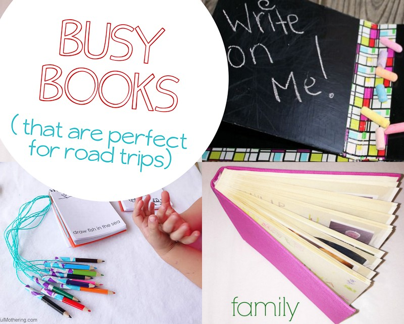 Busy book  that are great for on the road -- add these to our busy bag ideas!